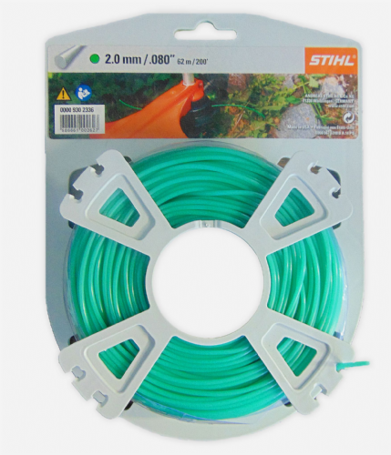 Genuine Stihl Trimmer line ROUND (GREEN) 2.0mm x 62M Product Code 0000 930 2336
